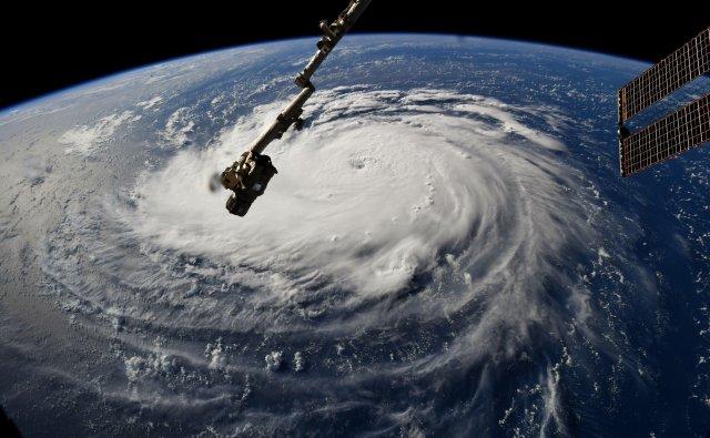 Uragano Florence dalla ISS